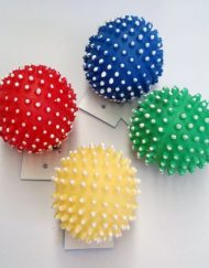 Soft Rubber squeaky Spikey Ball in 65mm